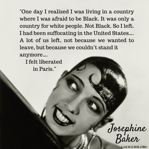 _One day I realized I was living in a country where I was afraid to be black. It was only a country for white people. Not black. So I left. I had been suffocating in the United States…. A lot of us left, not because